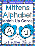 Alphabet Match Up Cards Lowercase to Uppercase {MITTENS}