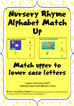 Alphabet Match Up Letters using Nursery Rhymes