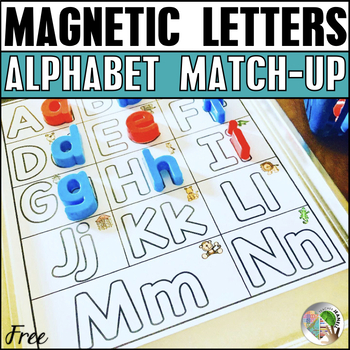 Alphabet Match-Up Magnetic Letters FREE