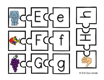 Alphabet Match Up Puzzle
