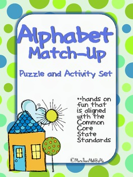 Alphabet Match-Up: Puzzle and Activity Set-B&W set included