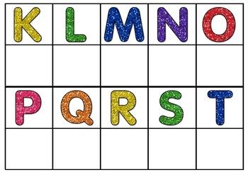 Alphabet Match Up Strips
