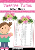 Valentine Turtles Upper and Lower Case Match