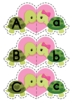 Valentine Turtles Upper and Lower Case Match