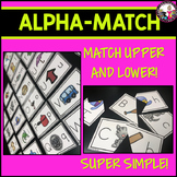 Alphabet Match!  Upper and Lowercase letters!