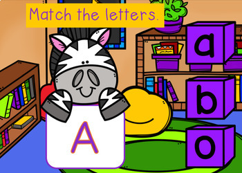 BOOM cards Alphabet Match Uppercase & Lowercase Letters