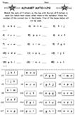 Alphabet Match Ups PLUS Alphabet Word Search Puzzle (Both Items)