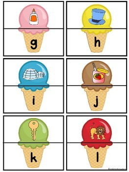 Alphabet Letter and Sound Matching Activity - Ice Cream Cone Theme