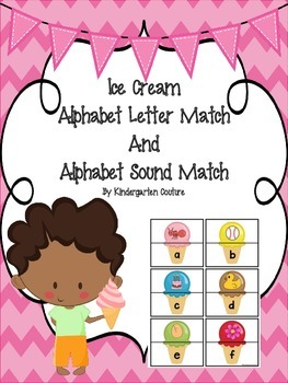 Alphabet Letter and Sound Matching Activity - Ice Cream Co