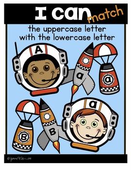 Alphabet Match (rockets) Literacy Center