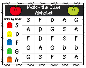 Alphabet Match the Cube