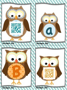 Alphabet Match with QR Codes and Recording Sheets