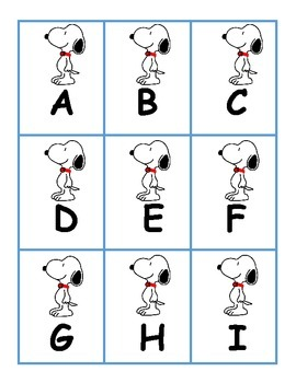 Alphabet Match with Snoopy and Woodstock