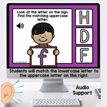 Alphabet Matching Activities Digital Task Cards Boom