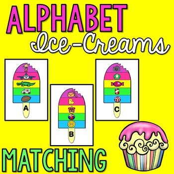 Alphabet Matching Activity Ice-Creams A-Z