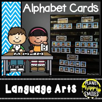 Alphabet Matching (Aqua and Chalkboard)