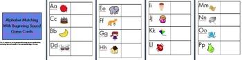 Alphabet Matching - Beginning Sound Word