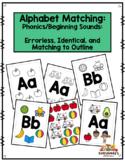 Alphabet Matching:  Beginning Sounds - Errorless, Identica
