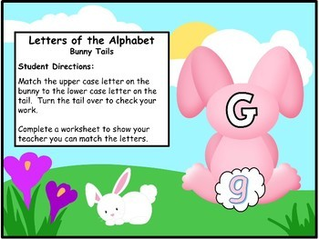 Alphabet Matching Bunny Theme