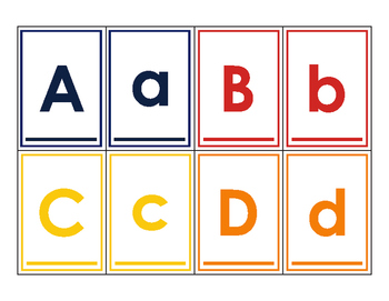Upper and Lower Case Alphabet Matching Cards