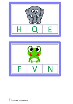 Alphabet Matching Cards