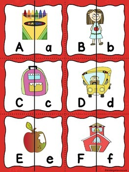 Alphabet Matching Cards -(Back To School) Freebie