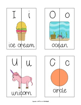 Alphabet Matching Cards D'Nealian