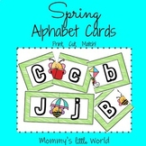 Alphabet Matching Cards - Spring theme
