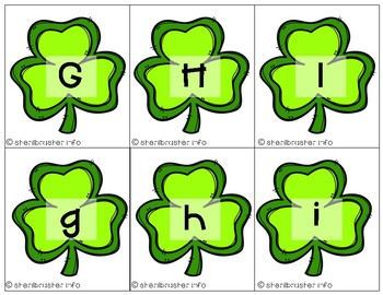Alphabet Matching Cards | St Patrick's Day | Letter Recognition