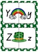 Alphabet Matching Cards, St Patricks Day Theme in Queensland Beginners Font