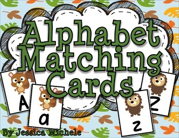 Alphabet Matching Cards {Woodland Animal Theme}