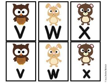Alphabet Matching Cards {Woodland Animal Theme}