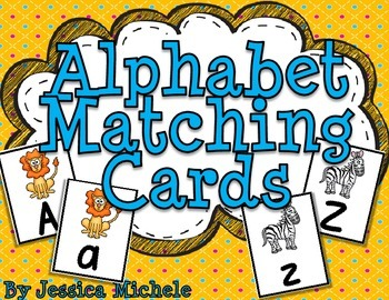 Alphabet Matching Cards {Zoo Animal Theme}