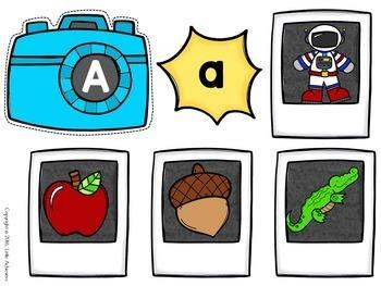 Letter Recognition Centers | Alphabet Letter Matching Activity