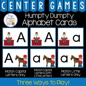 Alphabet Matching Centers With a Humpty Dumpty Theme