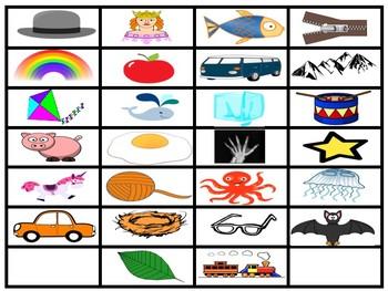 Alphabet Matching Chart
