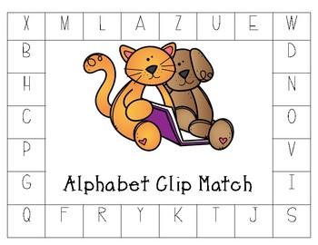 Alphabet Matching Clip Board