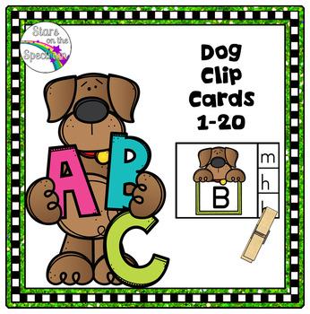 Alphabet Matching Clip Cards Dog