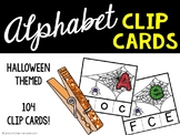 Alphabet Matching Clip Cards - Halloween / Spider Version
