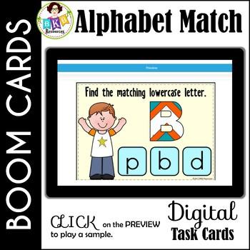 Alphabet Matching ● Digital Task Cards ● Boom Cards