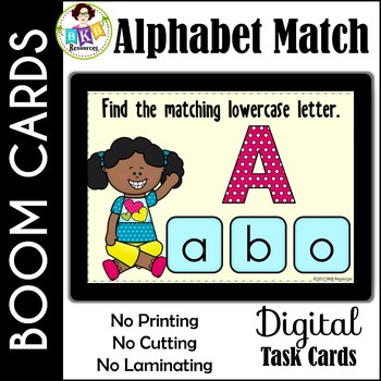 Alphabet Matching ● Digital Task Cards ● Boom Cards