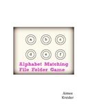 Alphabet Matching File Folder Game