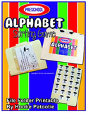 Alphabet Matching File Folder Printable Activity, Marshmallow and Cocoa Theme
