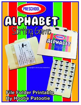 Alphabet Matching File Folder Printable Activity, Marshmal