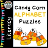 Alphabet Matching Game - Candy Corn Puzzle