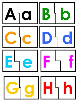 Alphabet Matching Game/Puzzle
