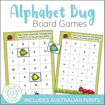 Differentiated Bug Themed Phonics Board Games - Alphabet a