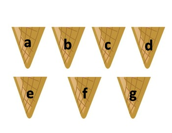 Alphabet Matching Ice Cream