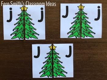 Alphabet Matching Literacy Center for Uppercase & Lowercase December Bundle