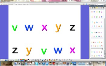 Alphabet Matching Lower Case     { Promethean Board Activity }